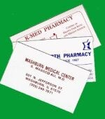 Picture of MAGNETIC BUSINESS CARDS (2-color Imprint) DRUGGIST, Picture 1