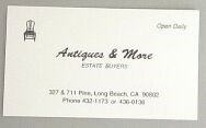 Picture of BUSINESS CARD WHITE VELLUM  (FOR ANTIQUE)