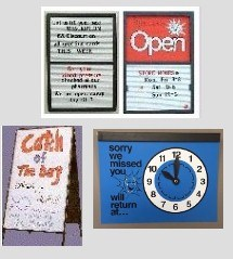 Picture for category SIGNS WITH CHANGEABLE LETTERS AND RETURN CLOCK SIGN