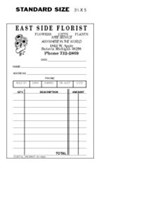 Picture of STD. SIZE DUPLICATE SALES SLIPS (NUMBERED) (FOR FLORIST), Picture 1