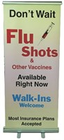 Picture of STOCK INDOOR FLU BANNER (FREE STANDING), Picture 1