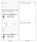 "Picture of FUNERAL ARRANGEMENT CARDS (STD 3 1/2"" X 8"")"