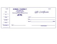 Picture of GIFT CERTIFICATES (STYLE 1) (FOR DRUGGIST), Picture 1