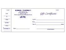 Picture of GIFT CERTIFICATES (STYLE 1) (FOR DRUGGIST)