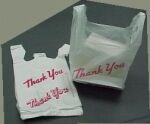 "Picture of WHITE PLASTIC ""GROCERY"" BAGS"