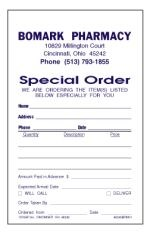 Picture of PERSONALIZED DUPLICATE (2-PART) SPECIAL ORDER FORMS (S2)