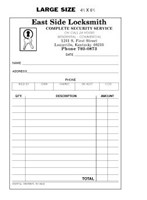 Picture of LARGE SINGLE SALES SLIPS 4 1/4 X 6 1/2 (FOR LOCKSMITH), Picture 1