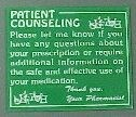"Picture of PATIENT COUNSELING SIGNS 10"" x 12"""
