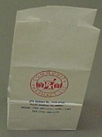Picture of 8 x 5 x 16 1/2 FLAT BOTTOM BAG (20 lb S.O.S.) With Imprint - Thousands, Picture 1