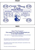 Picture of COME BACK CASH COUPONS, Picture 1