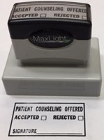 Picture of COUNSELING INFORMATION PRE-INKED STAMP, Picture 1