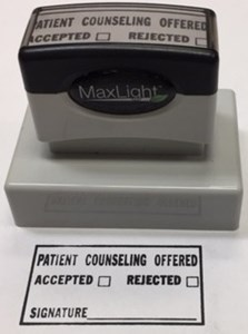 Picture of COUNSELING INFORMATION PRE-INKED STAMP