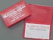 Picture for category MEDICAL ALERT CARD & HOLDER