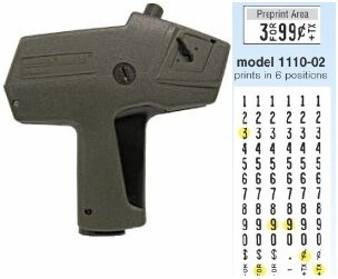 Picture of MONARCH MODEL 1110-02 PRICE MARKER