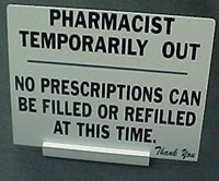 Picture of 'TEMPORARILY OUT' SIGN, Picture 1