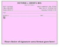 Picture of SINGLE IMPRINTED PRESCRIPTION BLANKS  LAYOUT FORMAT DR (Colored Paper), Picture 1