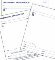 Picture of STOCK PRESCRIPTION BLANKS (singles) on white paper, Picture 1