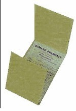 "Picture of STD. SIZE TRIPLICATE SALES SLIPS  (IN BOOKS) W/ NUMBERS (FOR DRUGGIST) 3 1/8"" x 5"""