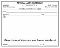 Picture of SINGLE IMPRINTED PRESCRIPTION BLANKS  LAYOUT FORMAT DS (white paper)