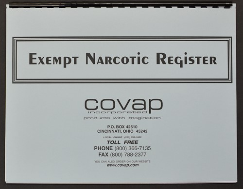 Picture of EXEMPT NARCOTIC REGISTER
