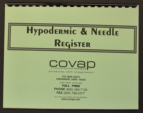 Picture of HYPODERMIC & NEEDLE REGISTER