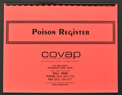 Picture of POISON REGISTER