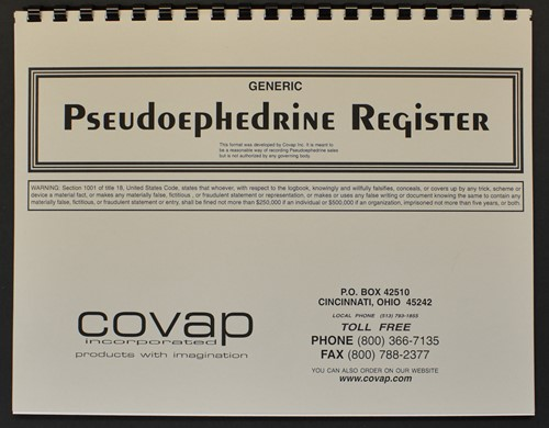 Picture of GENERIC PSEUDOEPHEDRINE REGISTER