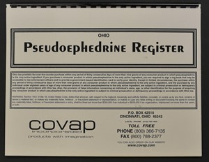 Picture of OHIO PSEUDOEPHEDRINE REGISTER