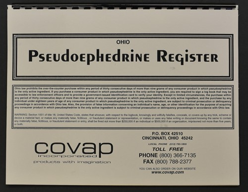Picture of IF YOUR STATE REQUIRES A SPECIFIC PSEUDOEPHEDRINE LOG AND IT IS NOT SHOWN HERE