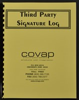 Picture of THIRD PARTY SIGNATURE LOGS 25 DOUBLE-SIDED SHEETS (bound register), Picture 1