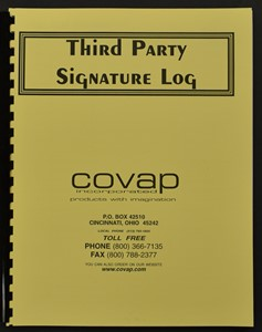 Picture of THIRD PARTY SIGNATURE LOGS 25 DOUBLE-SIDED SHEETS (bound register)