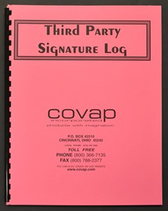 Picture of THIRD PARTY SIGNATURE LOG 50 DOUBLE-SIDED SHEETS (bound register)