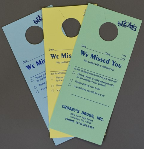 Picture of Delivery DOOR HANGERS (FOR DRUGGIST)