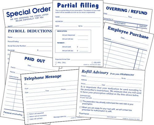 Picture of DUPLICATE (2-PART)  PROFESSIONAL BUSINESS FORMS